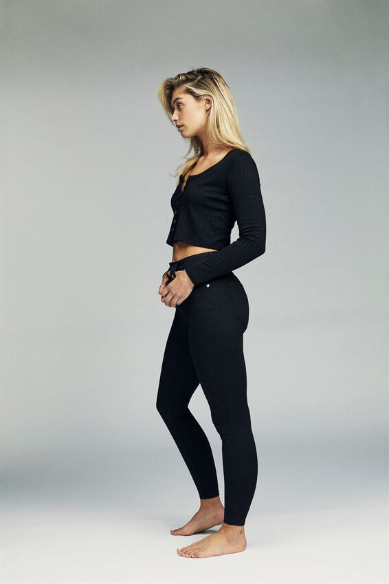 High Rise Cropped Skinny Jean, URBAN BLACK