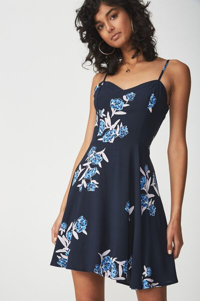 Woven Krissy Dress, JESSICA FLORAL MOONLIGHT