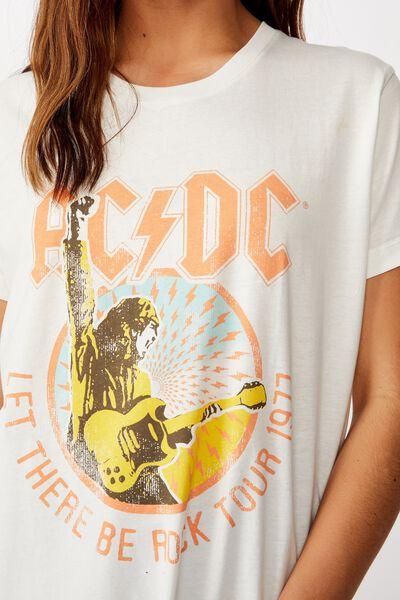 Classic Acdc T Shirt, LCN PER ACDC 1977 TOUR/GARDENIA