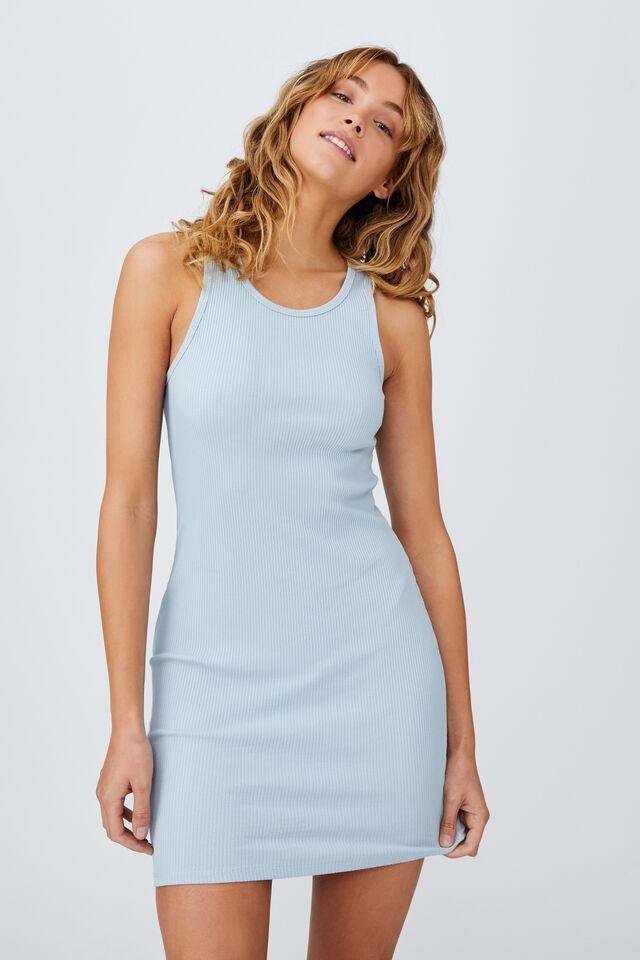 Essential Racer Mini Dress, NEW WAVE BLUE