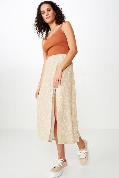 Woven Whitney Midi Skirt, PIPER ANIMAL NOMAD