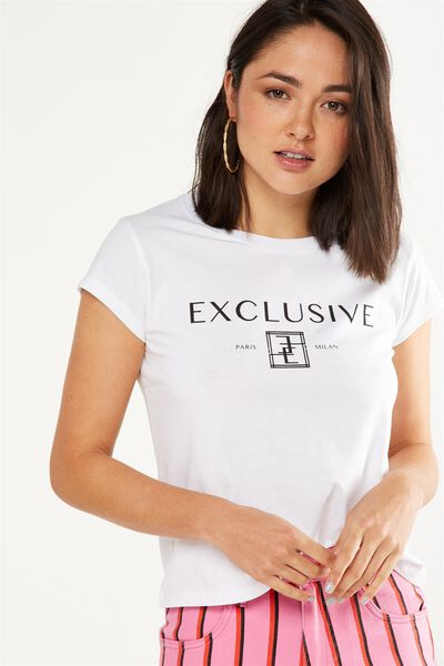 Tbar Rachael Graphic Tee Shirt, EXCLUSIVE/WHITE