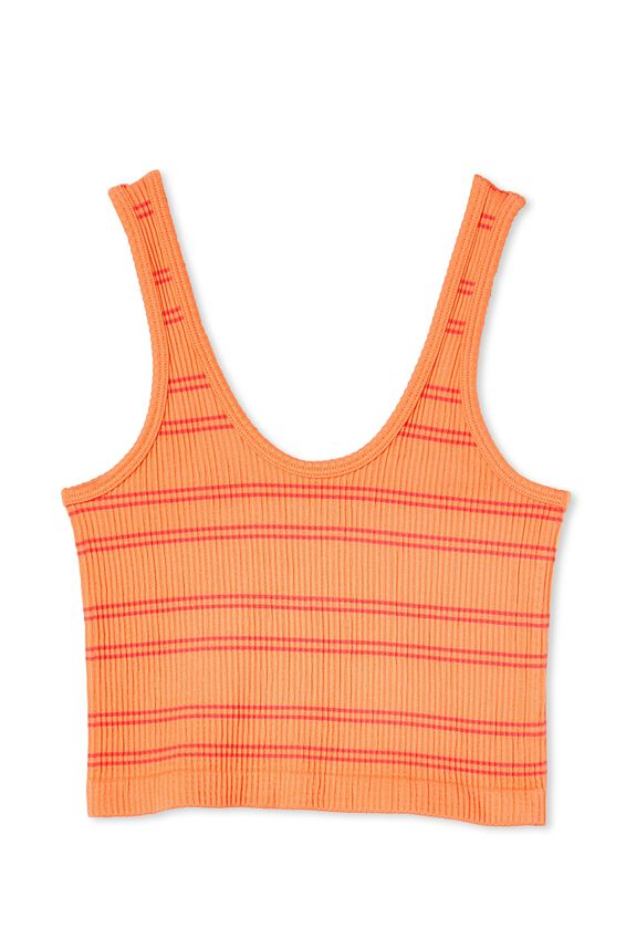 Stannie Seamfree Tank, CAL ICY APRICOT/ SUMMER CORAL STRIPE