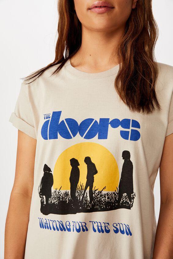 Classic Band T Shirt, LCN MT THE DOORS SUN/SILVER GREY