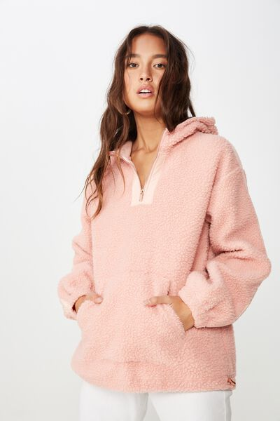 Oversize Polar Fleece, DUSTY PINK/DUSTY PINK