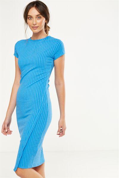 Anthea Short Sleeve Midi Dress, CAMPANULA