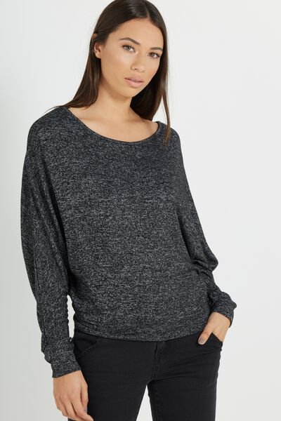 Nikita Soft Touch Long Sleeve Top, BLACK/WHITE SOFT TOUCH