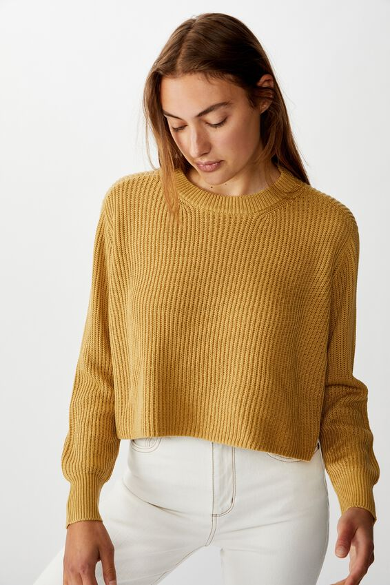 Archy Cropped 2 Pullover, PRARIE SAND