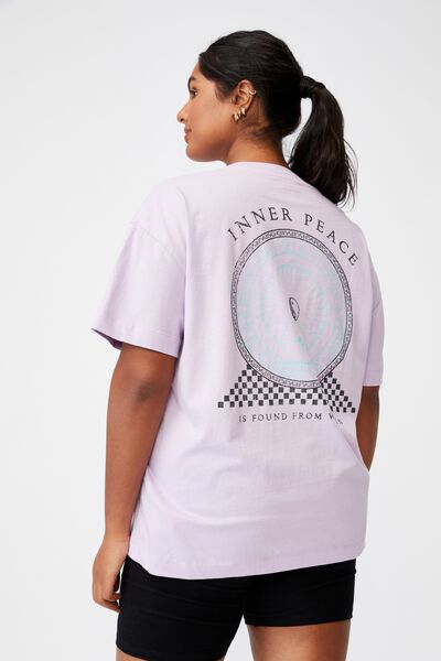 Curve Oversized Graphic Tee, INNER PEACE/LILAC BLOOM