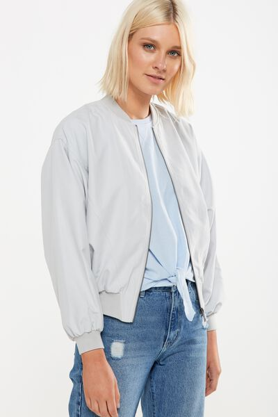 Batwing Bomber Jacket, GREY