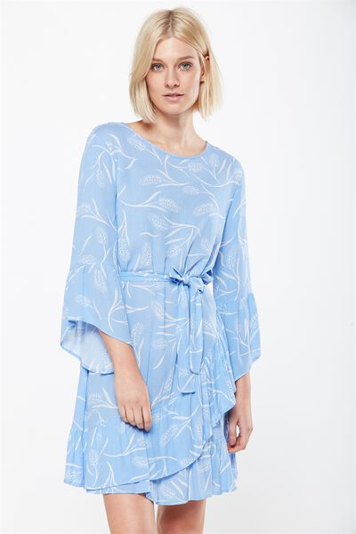 Woven Monique Long Sleeve Dress, WHITNEY WHEAT ROBBIA BLUE