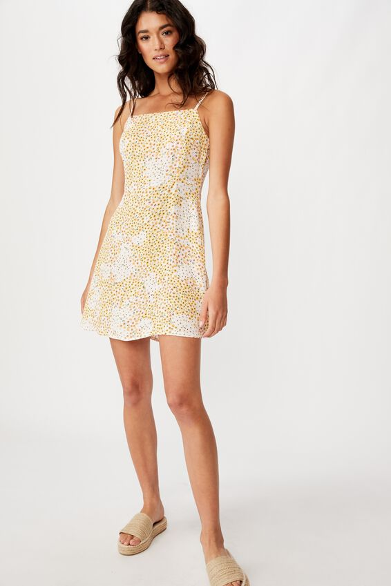 Woven Kendall Mini Dress, MANDY MULTI DITSY GARDENIA