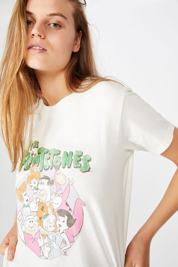 Classic Tv Movie T Shirt, LCN WB FLINTSTONES FAMILY/GARDENIA