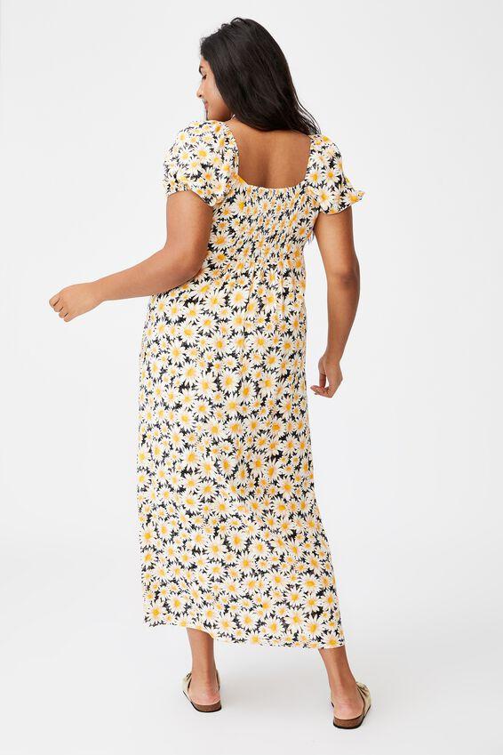 Curve Woven Casey Midi Dress, JOSIE DAISY BLACK