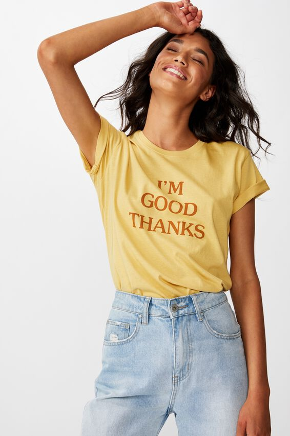 Classic Slogan T Shirt, IM GOOD THANKS/COCOON