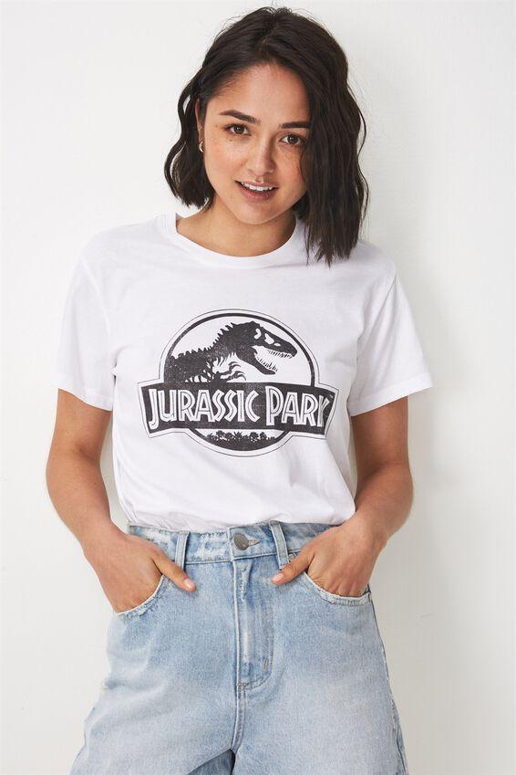 Tbar Fox Graphic T Shirt, LCN JURASSIC PARK CLASSIC/WHITE