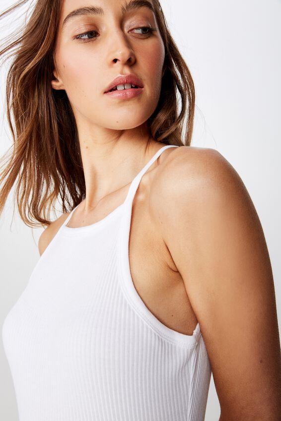 The Turn Back Strappy Bodysuit, WHITE