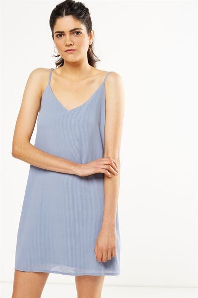 Woven Margot Slip Dress, ISLA PINSTRIPE