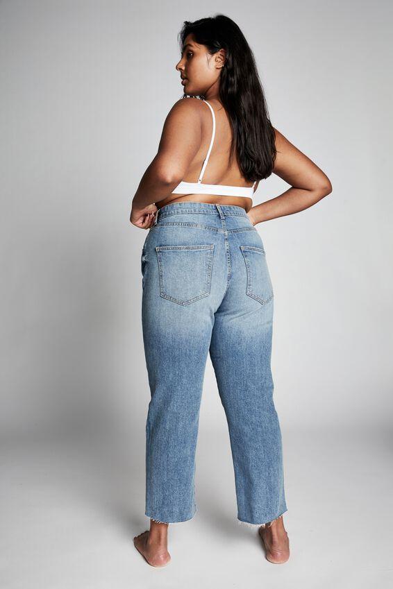 Curve Straight Stretch High Rise Jean, CALI BLUE