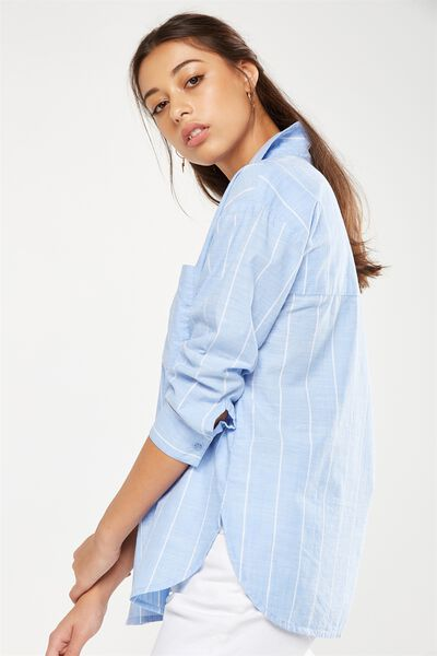 Millie Shirt, ELEANOR STRIPE BLUE