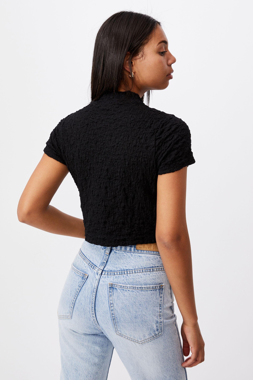 River Mock Neck Short Sleeve Top | Cotton On
