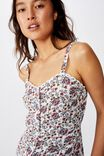 Pixie Button Through Cami, LUNA FLORAL PAISLEY MARSHMALLOW