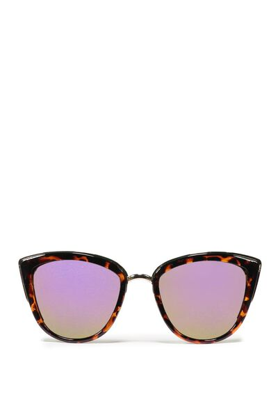Gigi Cat Eye Sunnies, TORT/PURPLE