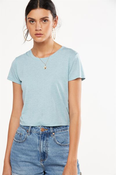 O Baby Speckle Tee, DAWN BLUE SPECKLE