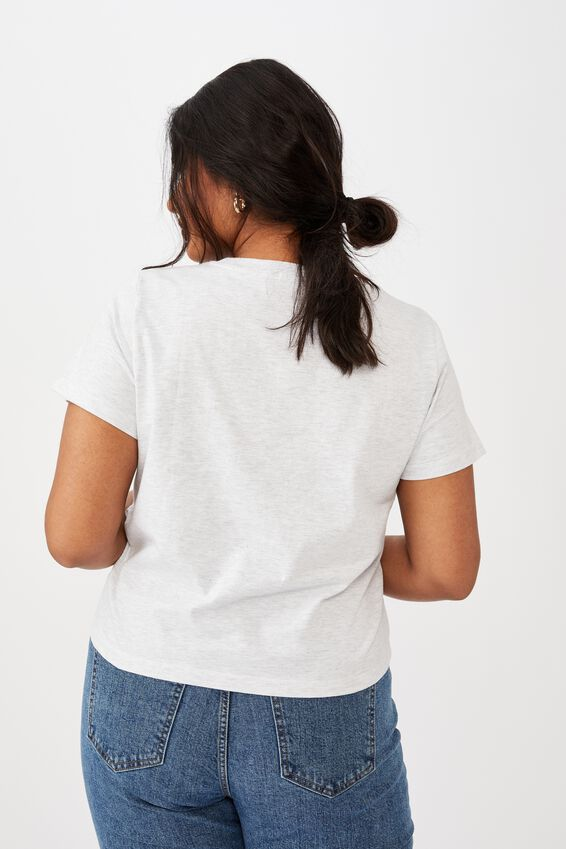 Curve The One Baby Tee, SILVER MARLE