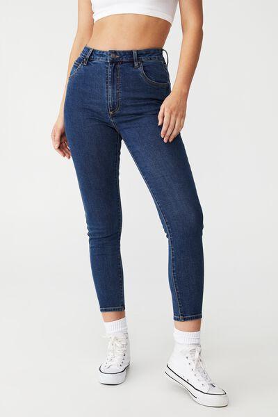 High Rise Cropped Skinny Jean, CAPE BLUE