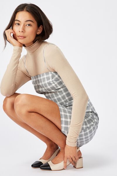 Woven Renee Strappy Mini Dress, BETH GINGHAM TOTAL ECLIPSE