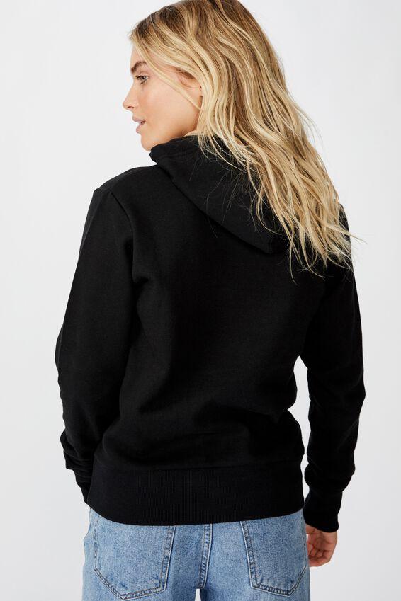 Demi Graphic Hoodie, SIMPLE IS BEAUTIFUL/BLACK