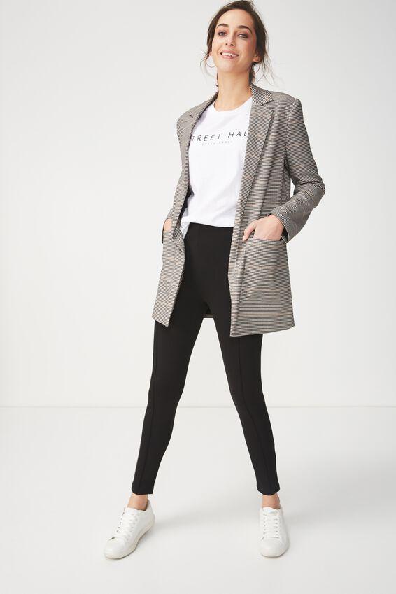 Dantea Legging, BLACK SOLID