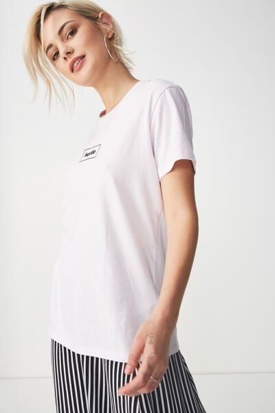 Tbar Fox Graphic T Shirt, HUSTLE/LAVENDER FOG