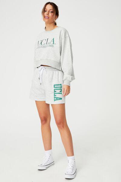 Collab Classic Short, UCLA LOGO/ LIGHT GREY MARLE