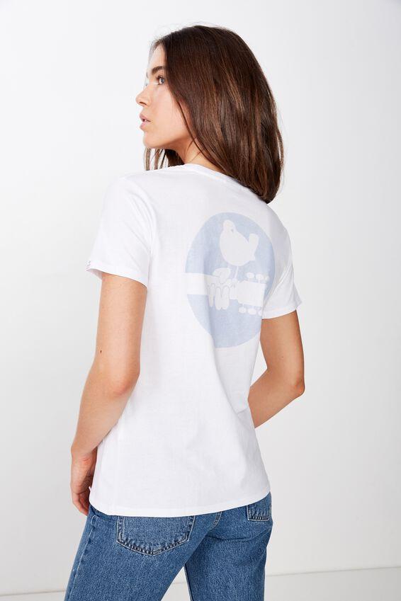 Classic Band T Shirt, LCN PER WOODSTOCK LOGO/WHITE