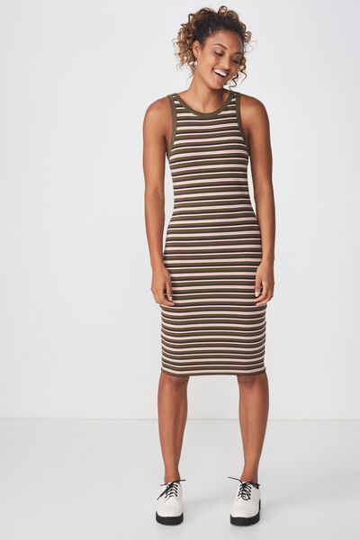 Lena Midi Dress, PAULA FEEDER STRIPE IVY GREEN