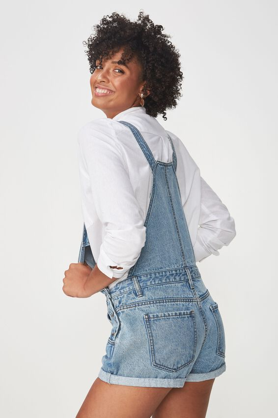 The Classic Denim Overall, MINERAL MID BLUE