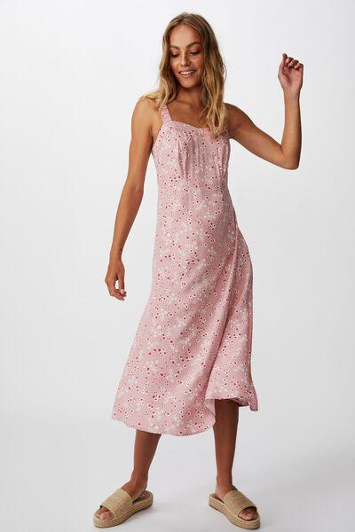Woven Melanie Midi Slip Dress, MILLIE FLORAL ZEPHYR