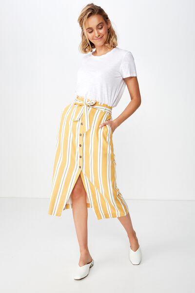 Woven Willow Midi Skirt, JASMINE STRIPE HONEY YELLOW