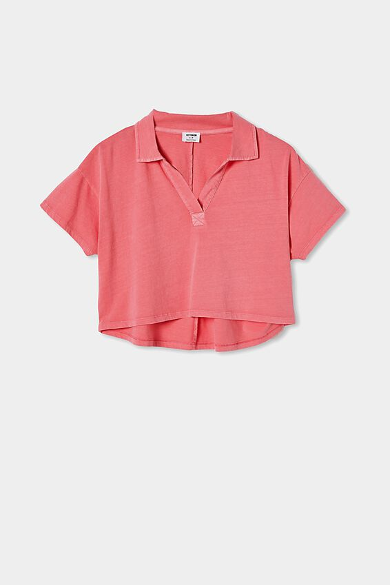 Ryan Short Sleeve Polo, WASHED PINK TOPAZ