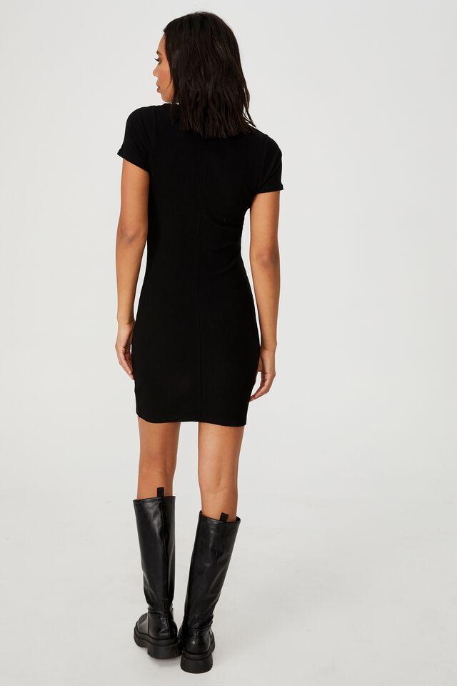 Essential Mini Dress, BLACK