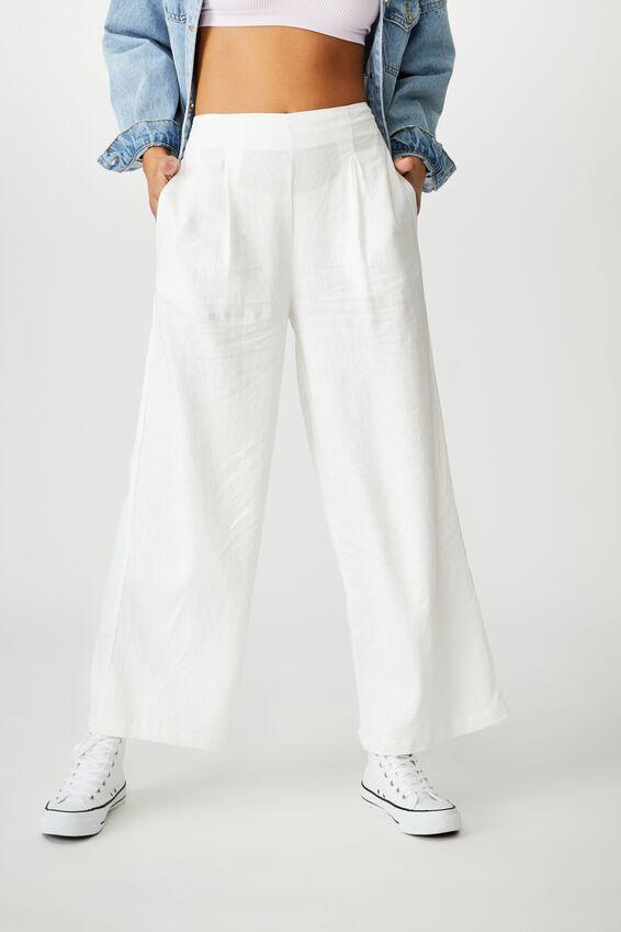 Wide Leg Paradise Pant, WHITE