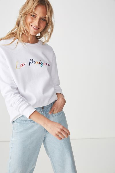 Ferguson Graphic Crew Sweater, LA MAISON/WHITE