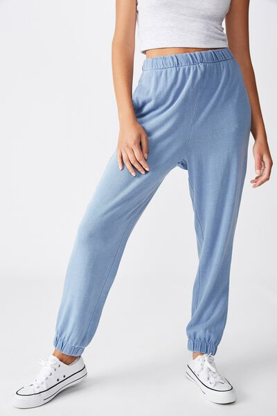 High Waisted Trackpant, INFINITY GARMENT PIGMENT DYE