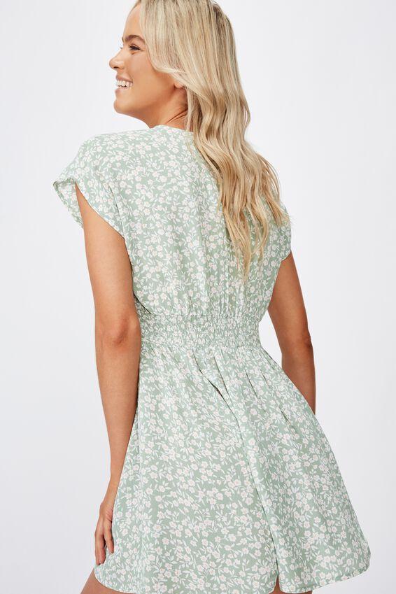 Woven Ultimate Tea Dress, TAYLAH DITSY GREEN BAY