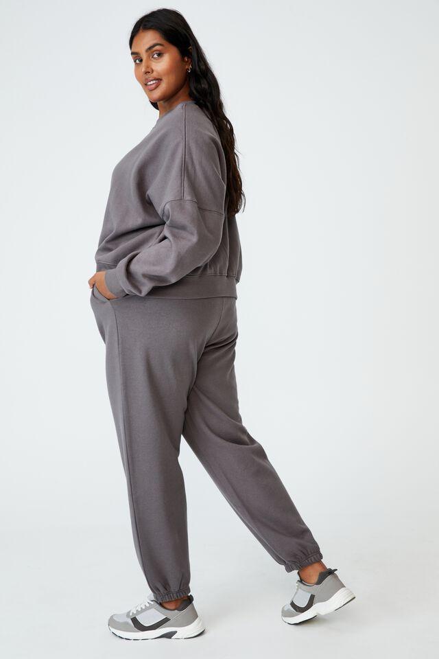 Curve Classic High Waist Track Pant, ASH GREY