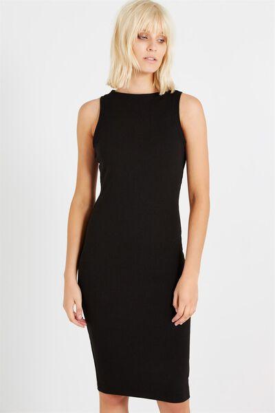Lola Midi Dress, BLACK