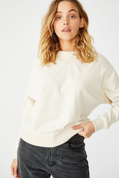 Billie Mock Neck Pullover, BARLEY MARLE