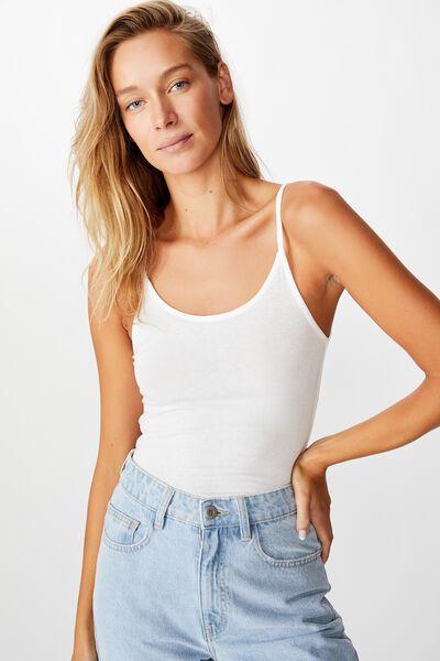 Sheer Vintage Cami, WHITE